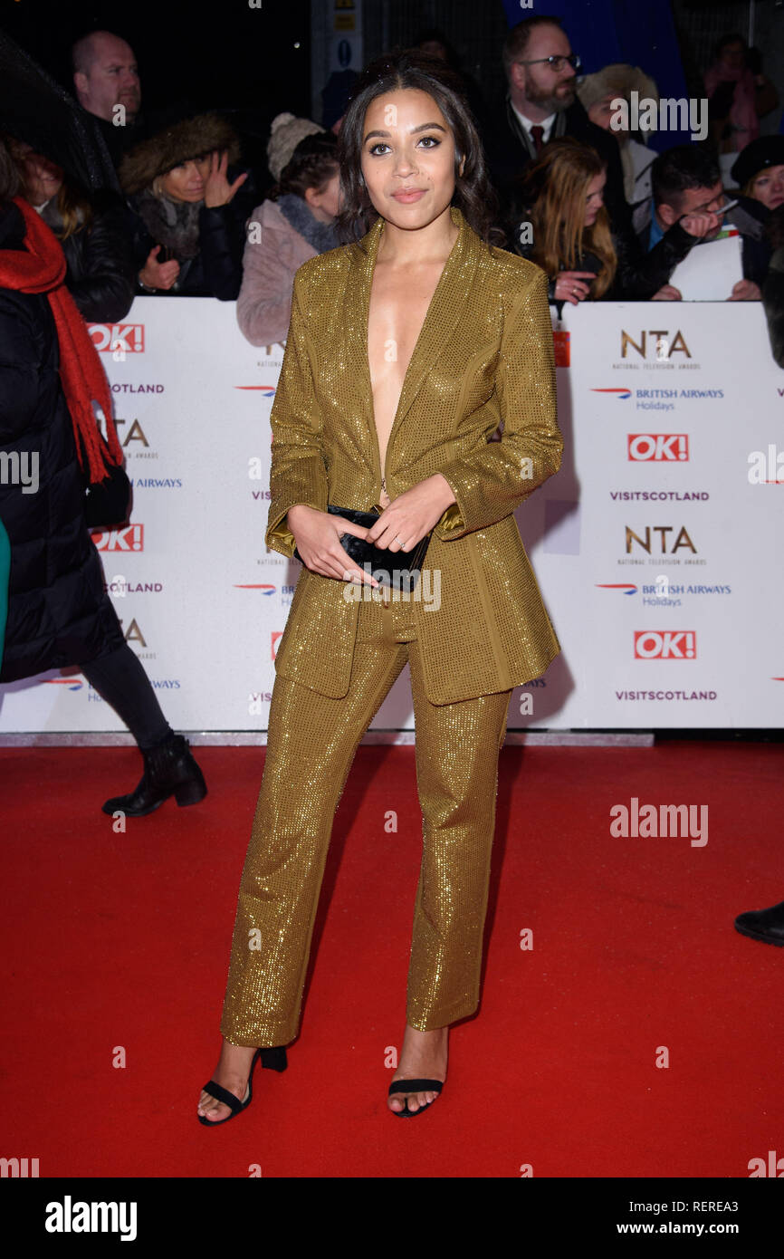 LONDON, UK. January 22, 2019: Leonie Elliot at the National TV Awards 2019 at the O2 Arena, London. Picture: Steve Vas/Featureflash - Stock Image