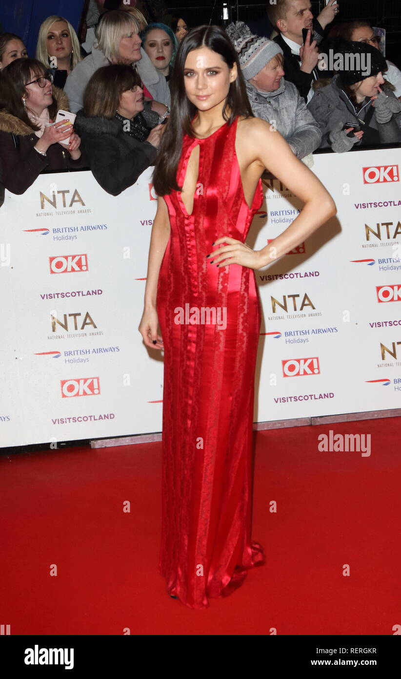 Lilah Parsons seen on the red carpet during the National Television Awards at the O2, Peninsula Square in London. - Stock Image