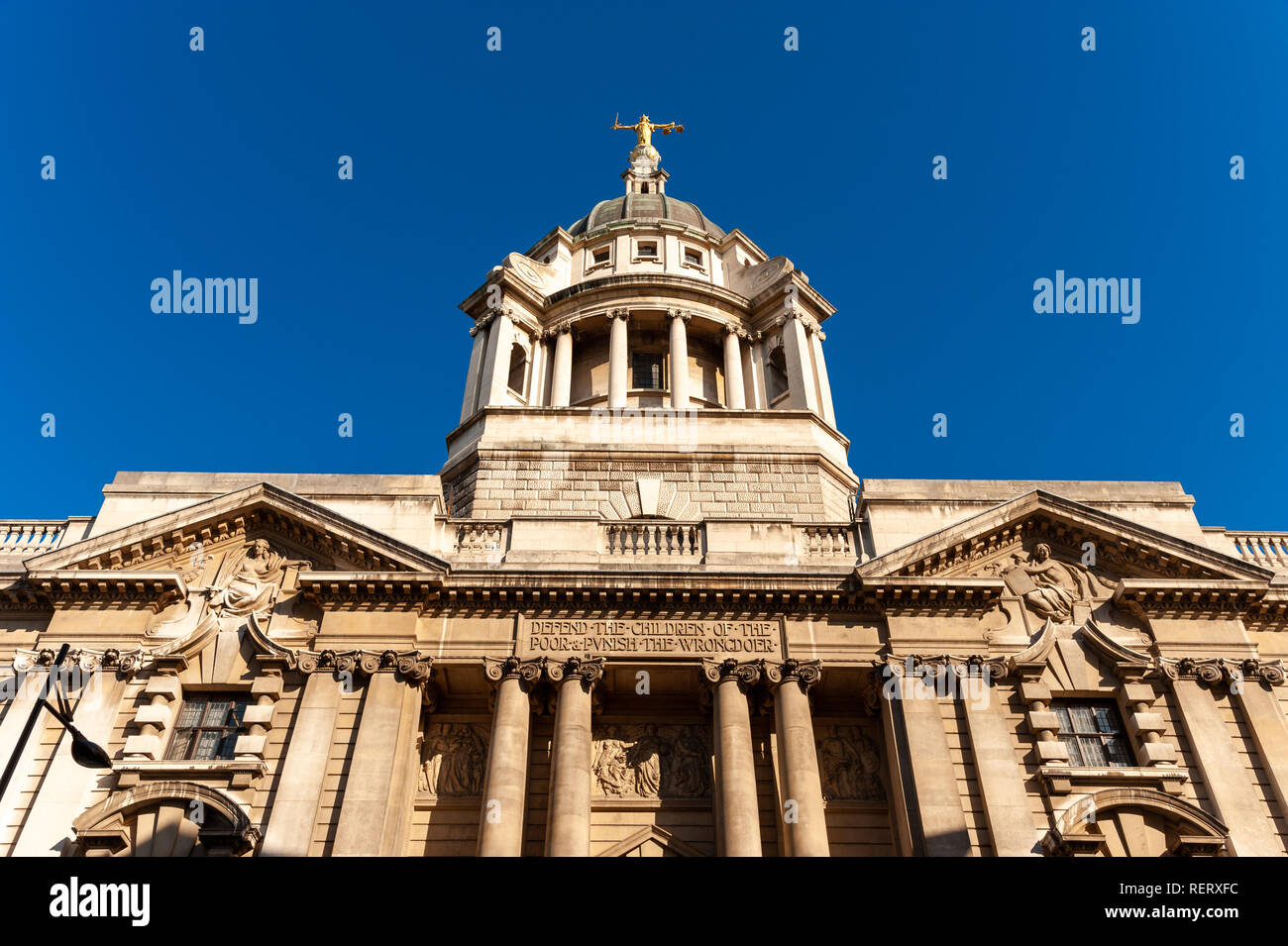 The Old Bailey, London, UK - Stock Image