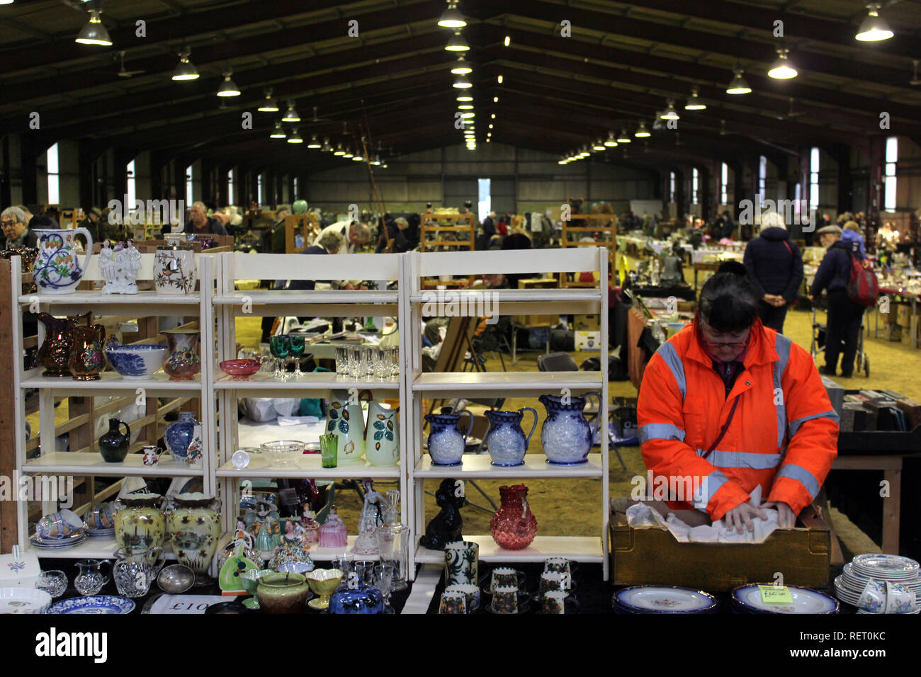 Ardingly antiques fair, West Sussex, England, UK - Stock Image
