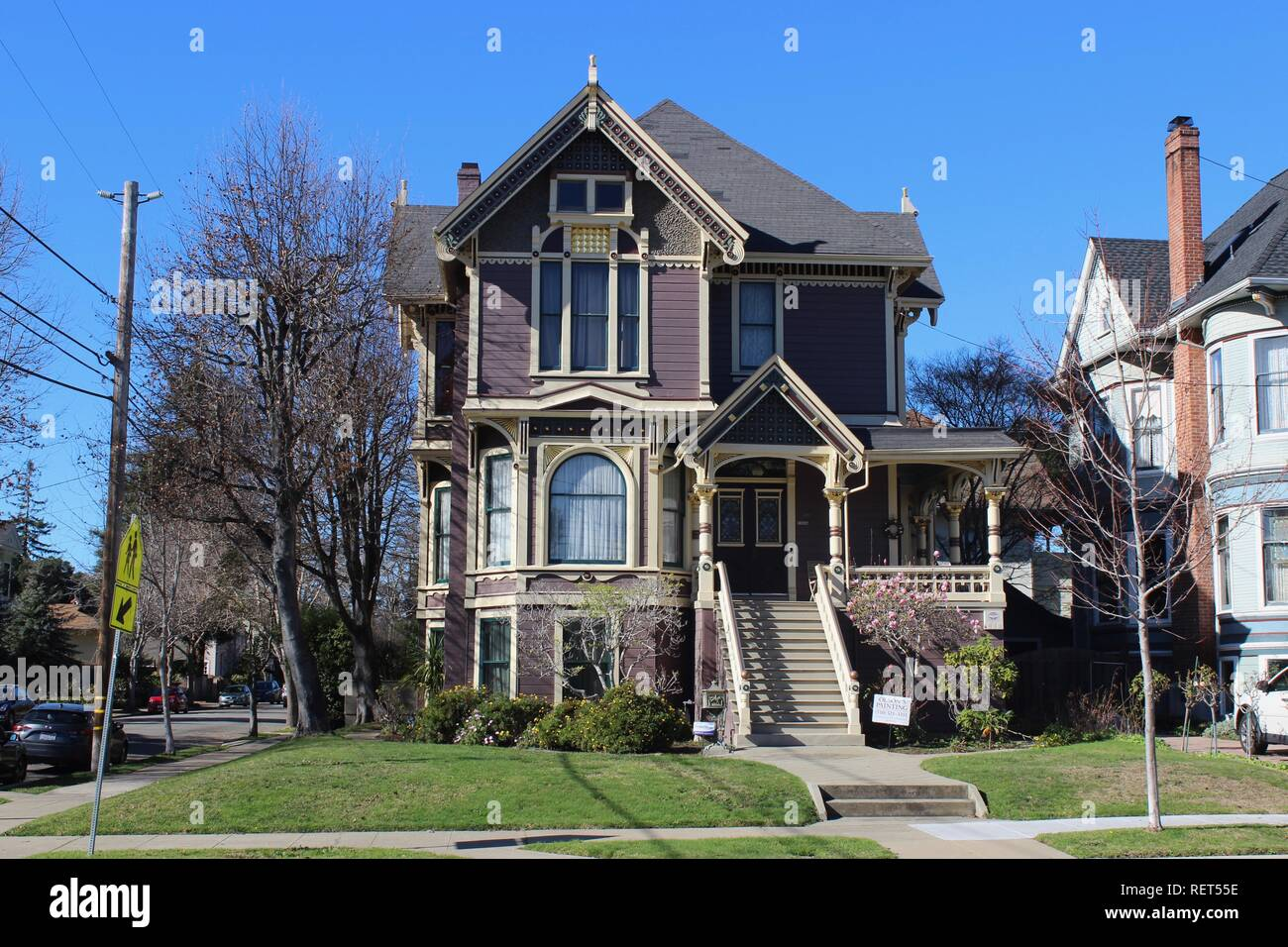 Queen Anne House, built 1891, Alameda, California - Stock Image