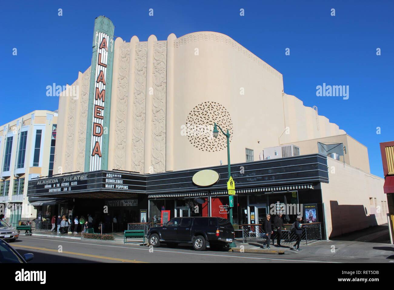 Alameda Theatre, built 1932, Alameda, California - Stock Image