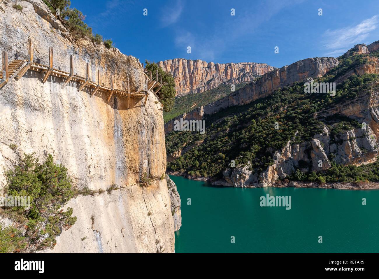 Montfalco footpath, Huesca province, Spain - Stock Image