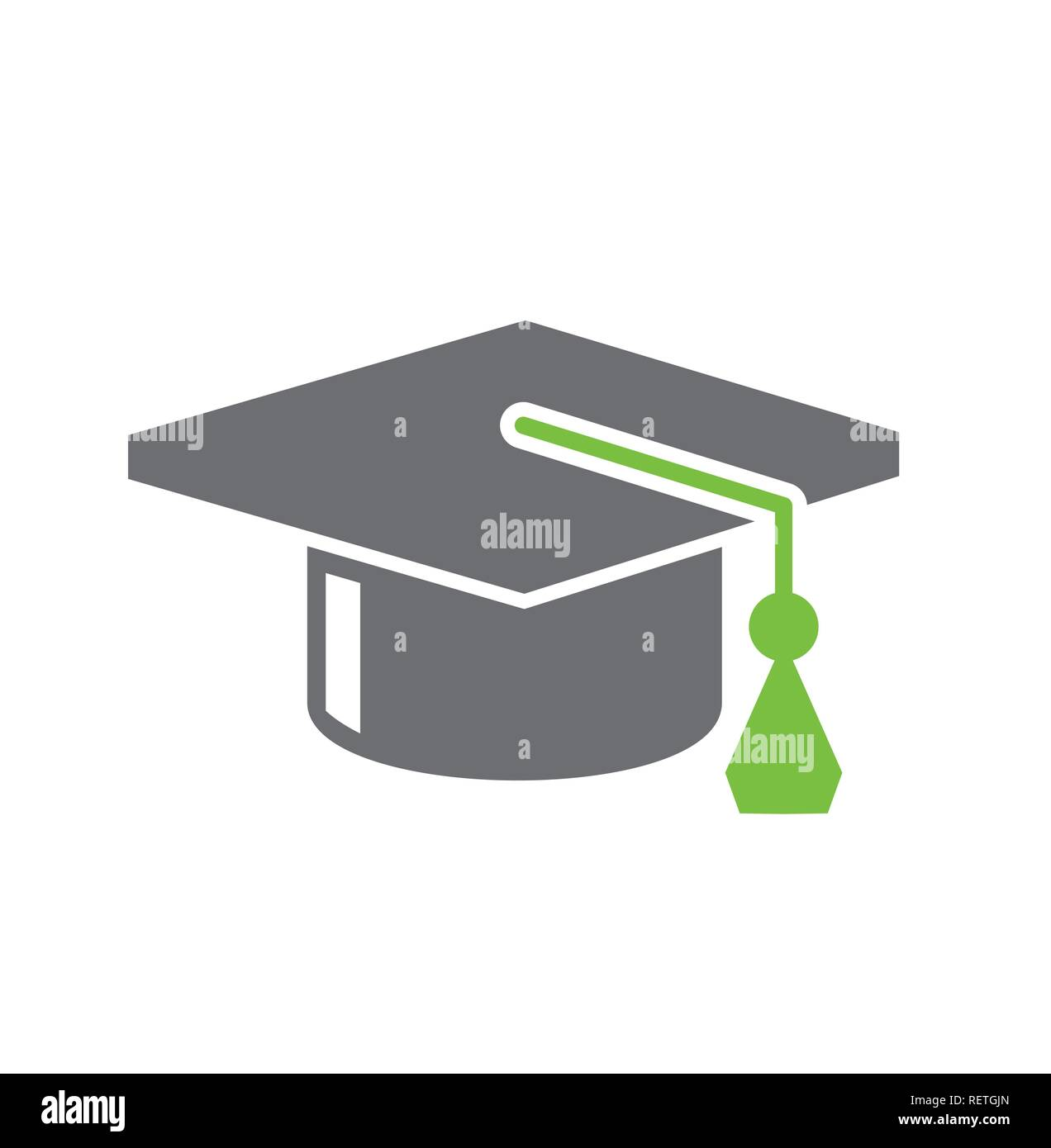 b18f49bfa8d Graduation cap icon on white background for graphic and web design ...