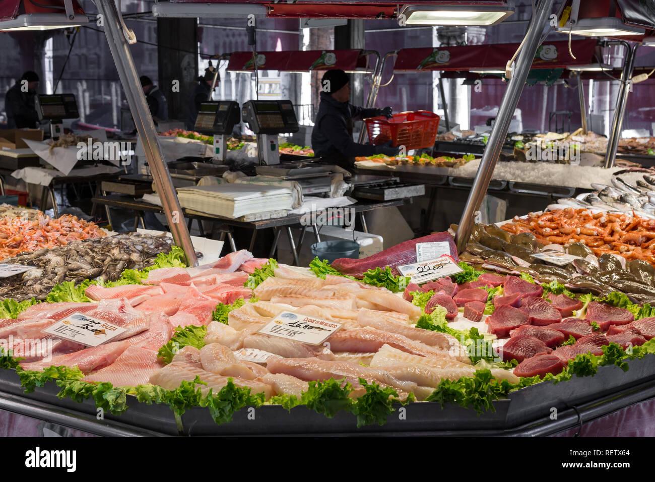 Venetian Fish Market Stock Photos