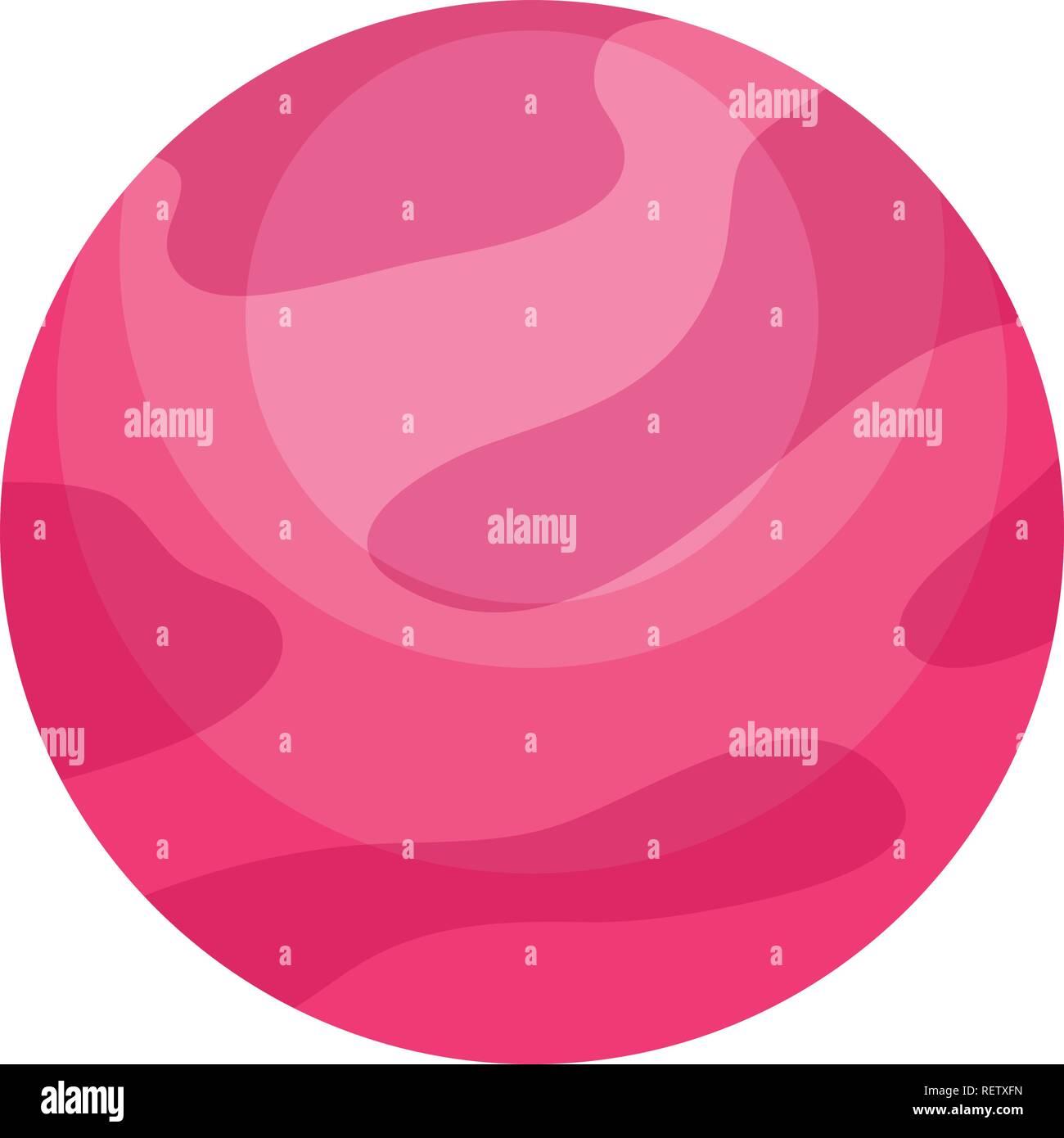 jupiter planet over white background, vector illustration - Stock Image
