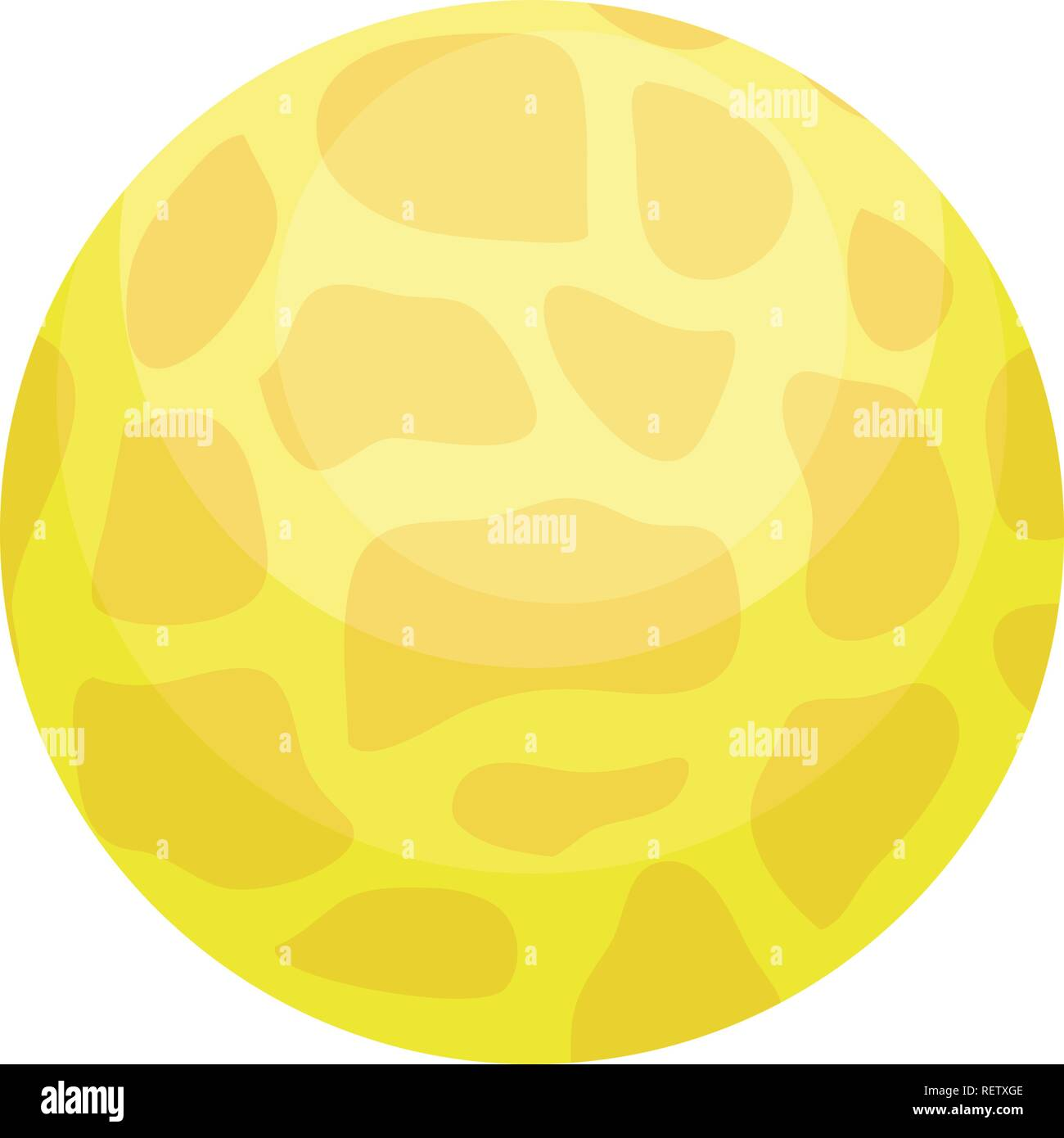 venus planet over white background, vector illustration - Stock Image
