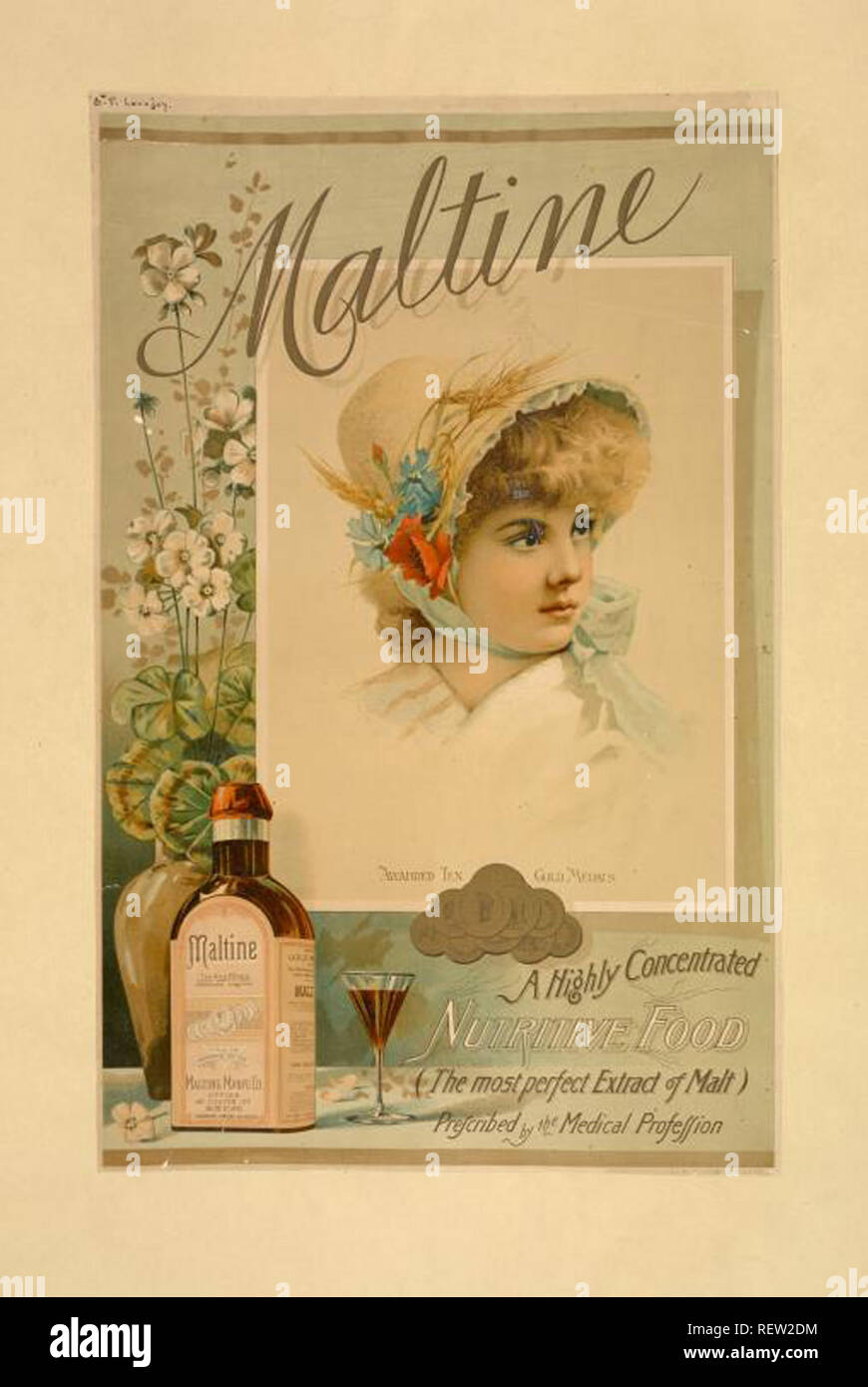 vintage magazine advertising and cover design - Stock Image