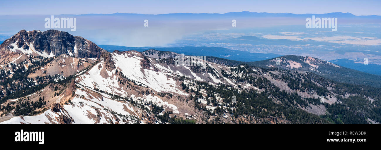 Panoramic View Towards Sacramento Valley And Redding As Seen From