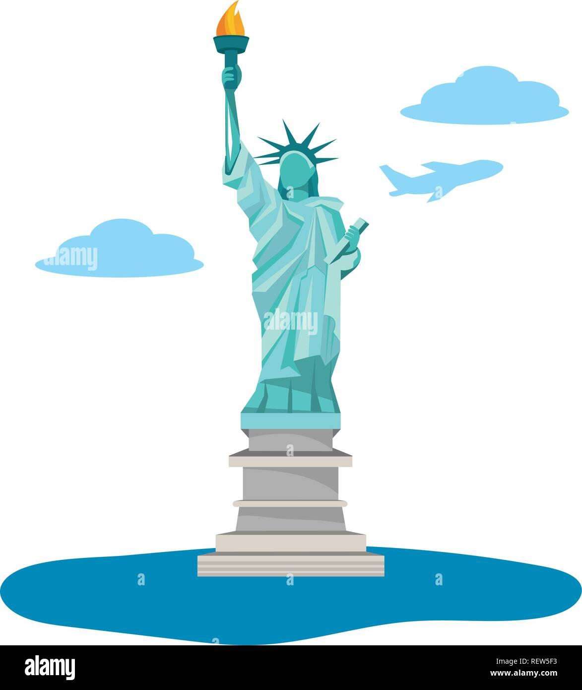 statue of liberty icon Stock Vector