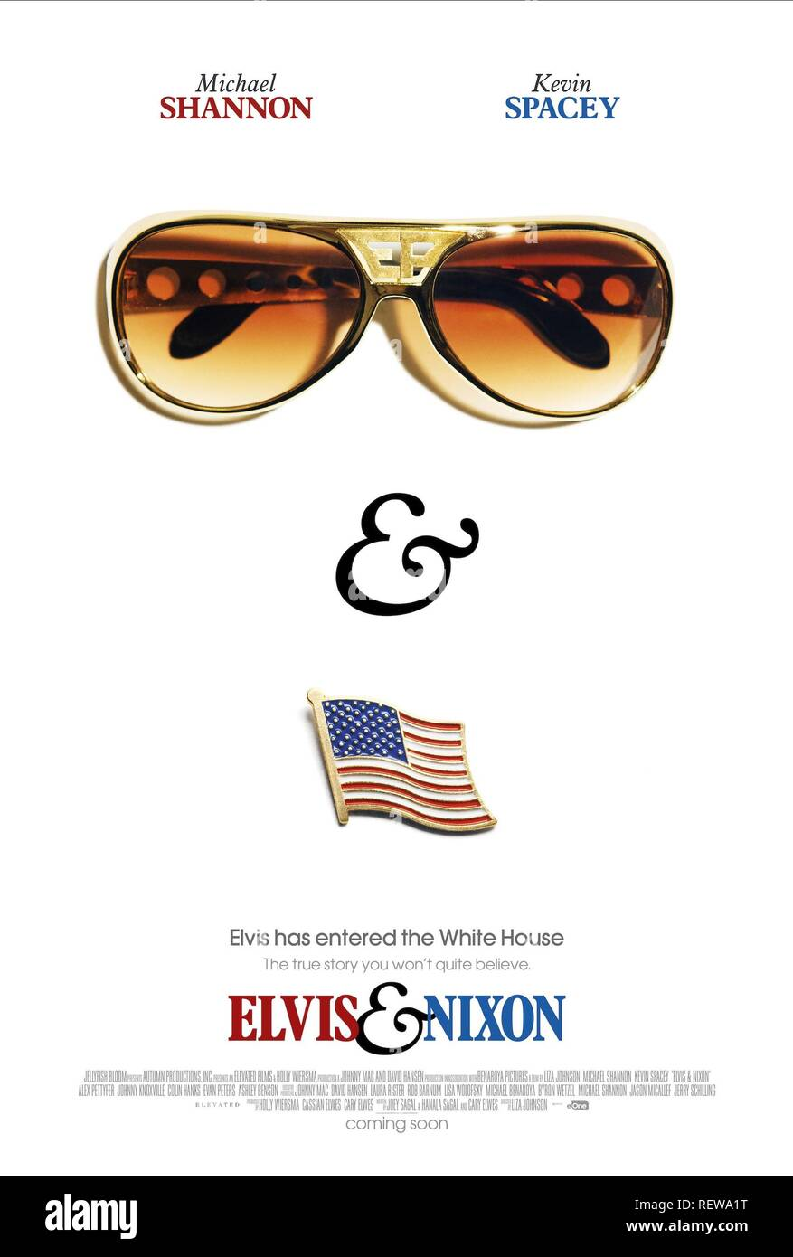 MOVIE POSTER ELVIS & NIXON (2016) - Stock Image