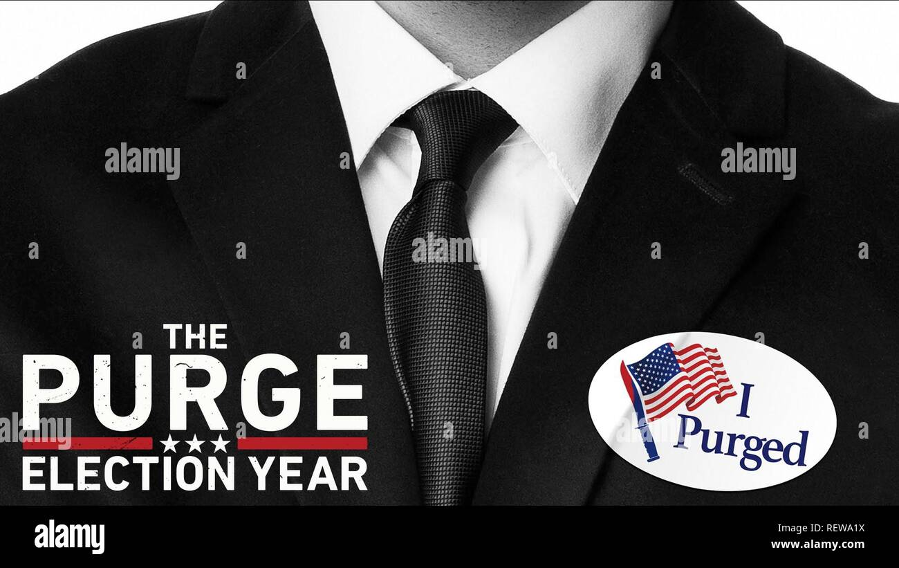 MOVIE POSTER THE PURGE: ELECTION YEAR (2016) - Stock Image