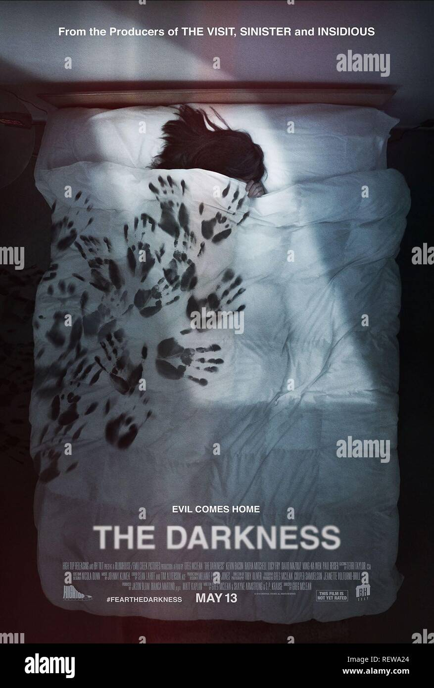 MOVIE POSTER THE DARKNESS (2016) - Stock Image