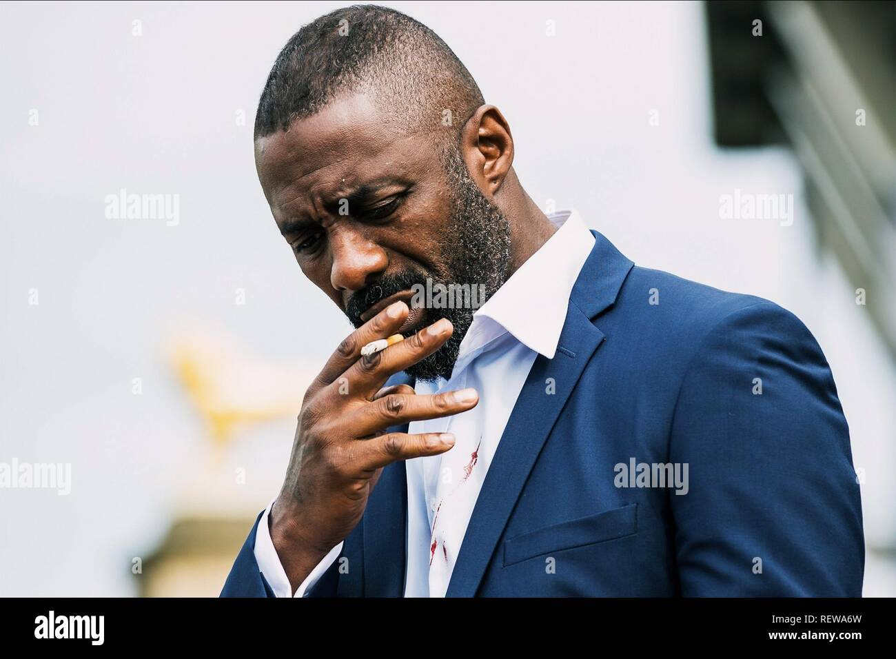 Idris Elba Film: 100 Streets (UK 2016)  Character(s): Max  Director: Jim O'Hanlon 08 June 2016  SAS73073 Allstar Picture Library/GREEN DOOR PICTURES/VERTIGO RELEASING  **Warning**  This Photograph is for editorial use only and is the copyright of GREEN DOOR PICTURES/VERTIGO RELEASING  and/or the Photographer assigned by the Film or Production Company & can only be reproduced by publications in conjunction with the promotion of the above Film. A Mandatory Credit To GREEN DOOR PICTURES/VERTIGO RELEASING is required. The Photographer should also be credited when known. No commercial use can be gr - Stock Image