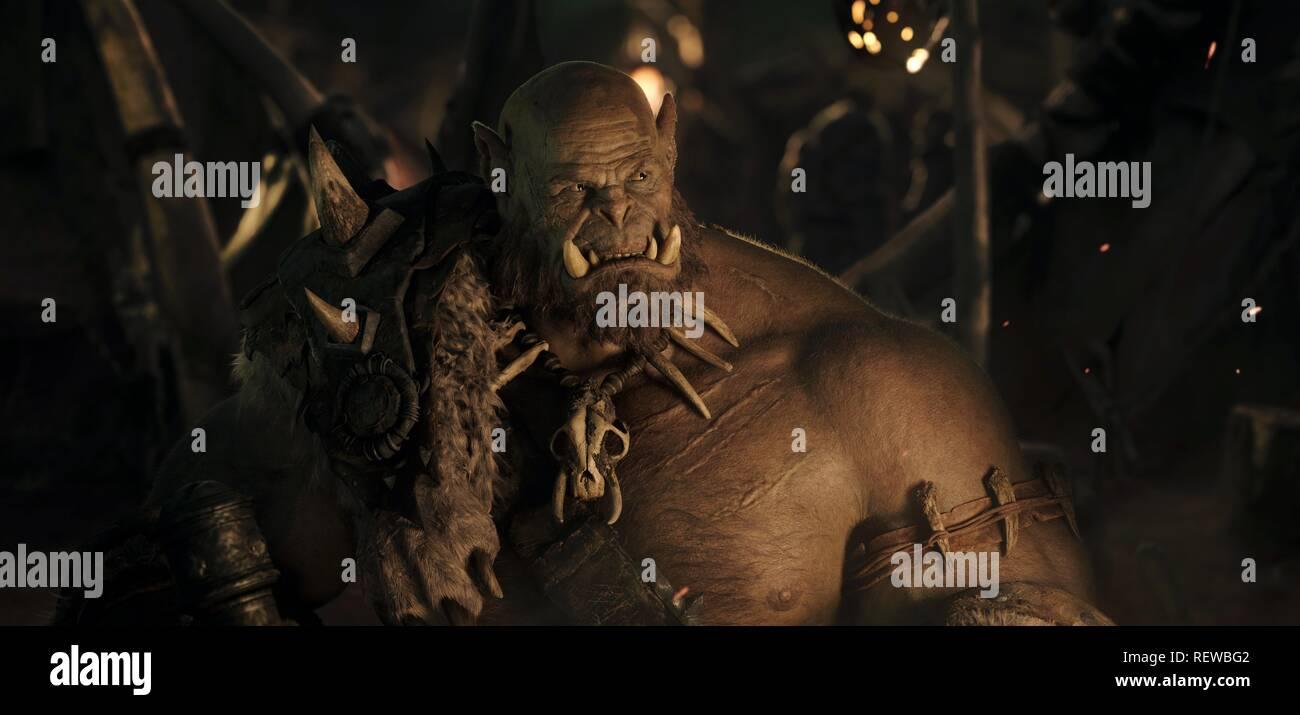 Robert Kazinsky Warcraft 2016 Stock Photo Alamy