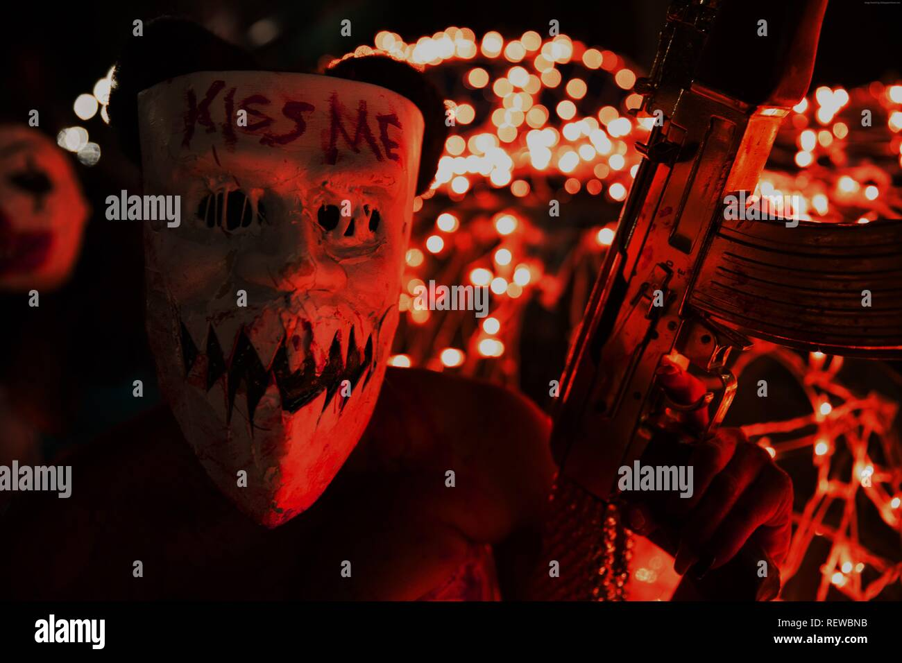 MASKED PURGER THE PURGE: ELECTION YEAR (2016) - Stock Image