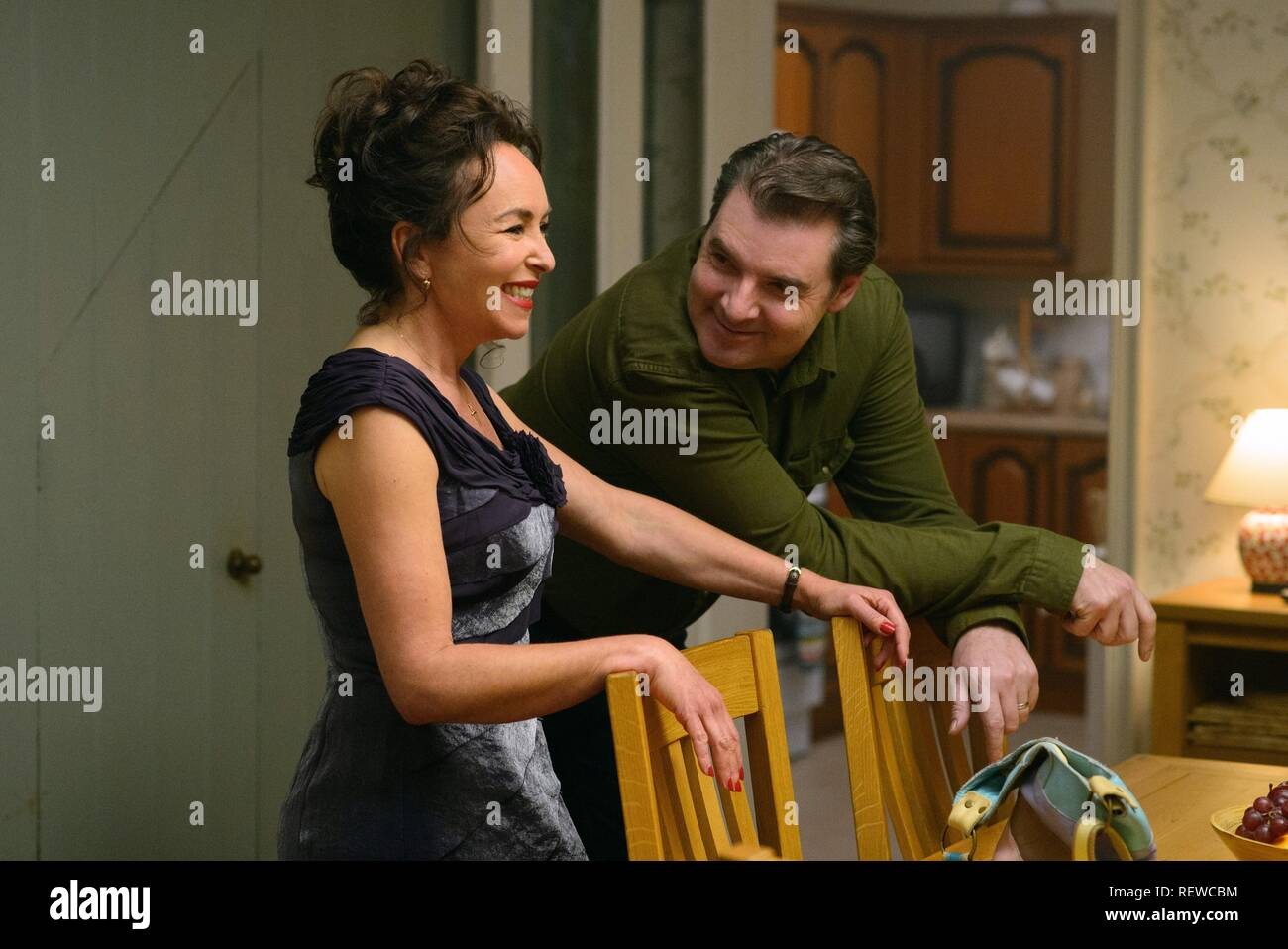 Samantha Spiro Brendan Coyle Me Before You 2016 Stock Photo Alamy