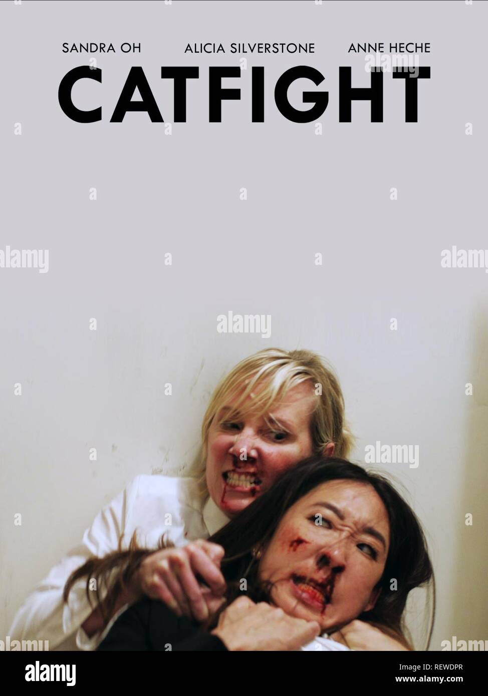 ANNE HECHE & SANDRA OH POSTER CATFIGHT (2016) - Stock Image