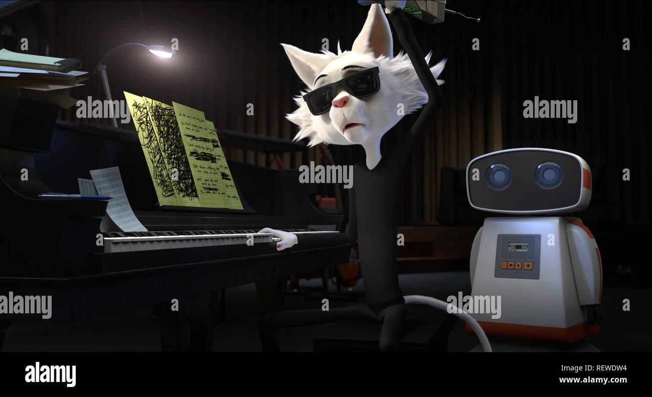 ANGUS & ROBOT ROCK DOG (2016) - Stock Image