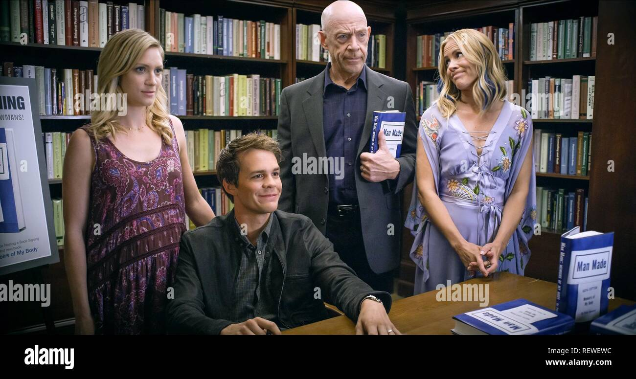 BRITTANY SNOW JOHNNY SIMMONS J.K. SIMMONS & MARIA BELLO THE LATE BLOOMER (2016) - Stock Image