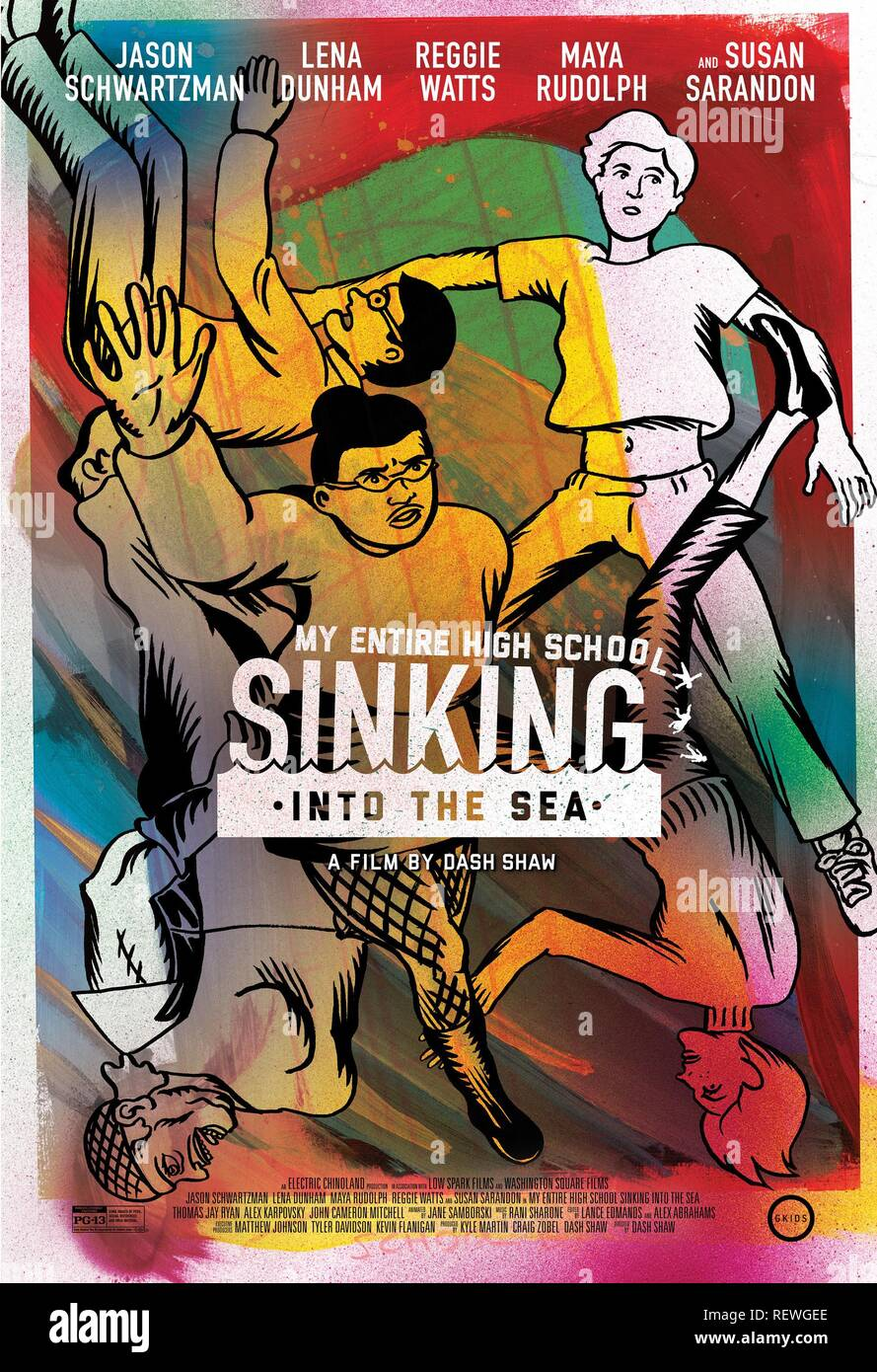 MOVIE POSTER MY ENTIRE HIGH SCHOOL SINKING INTO THE SEA (2016) - Stock Image