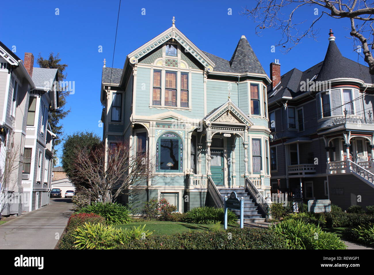 Eastlake House, built 1894, Alameda, California - Stock Image