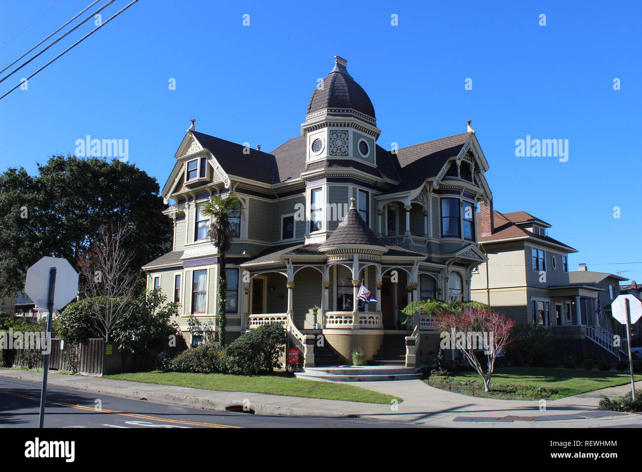 Queen Anne House, built 1893, Alameda, California - Stock Image