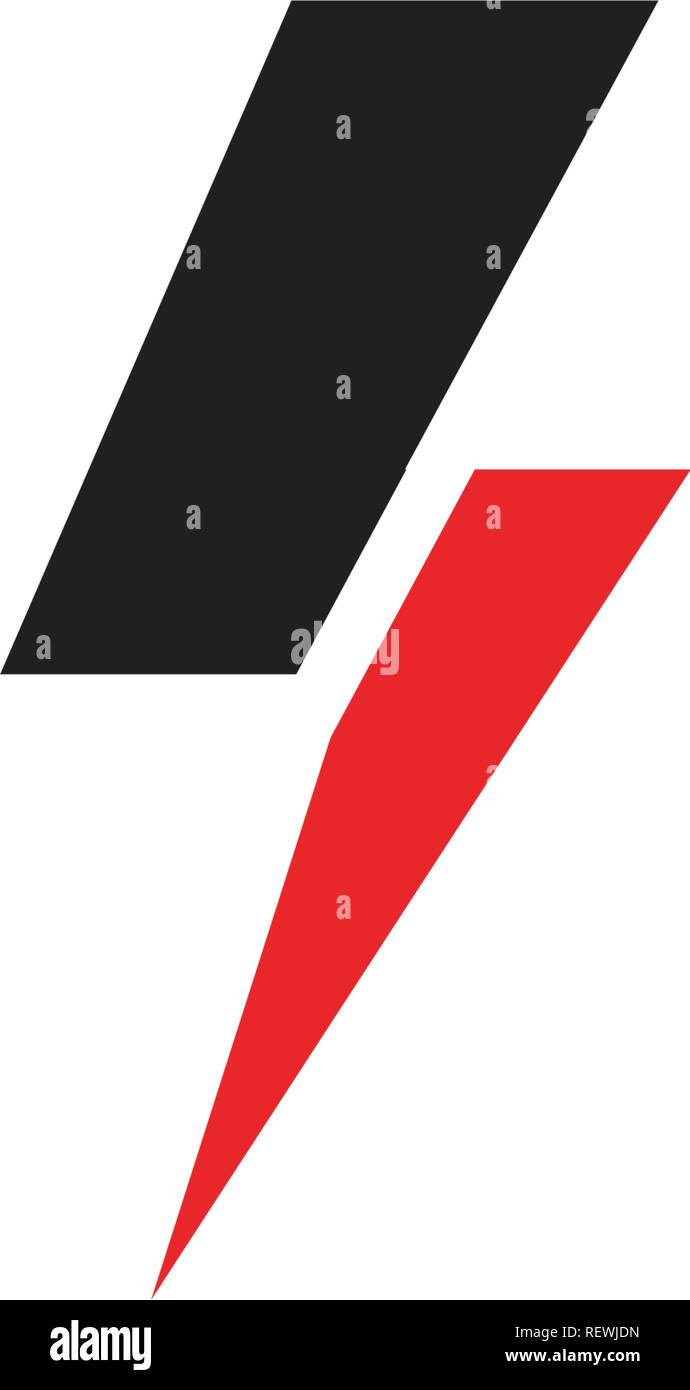 Lightning Logo Template Stock Vector Art & Illustration