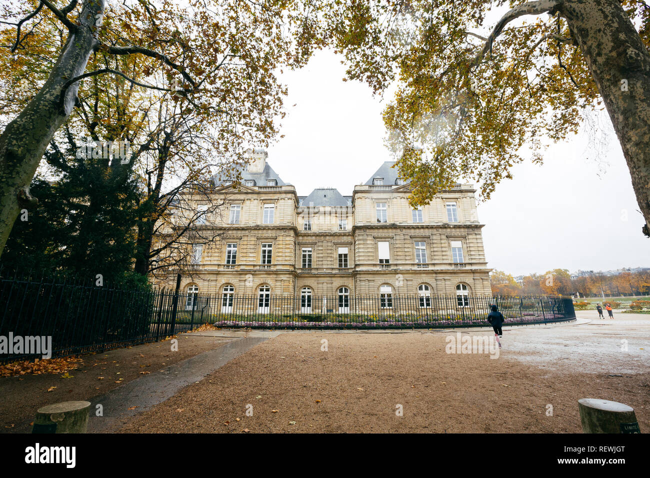Paris (France) - Luxembourg Palace in Luxembourg Garden (Jardin de Luxembourg) Stock Photo