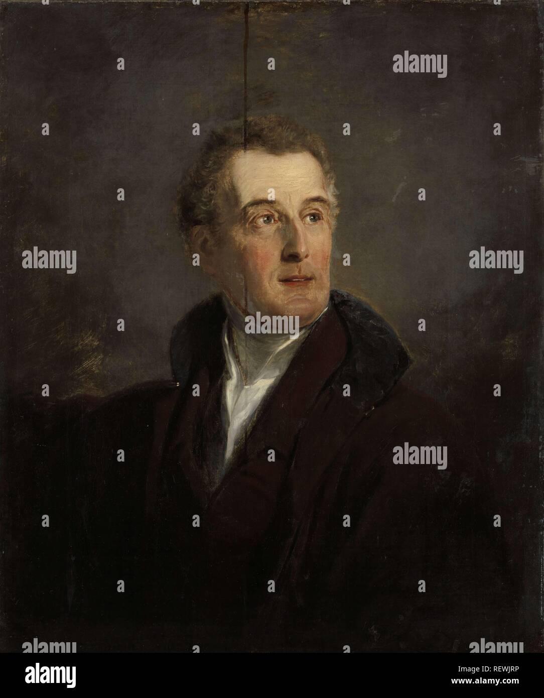 Portrait Study of Arthur Wellesley, Duke of Wellington. Portrait of Arthur Wellesley, Duke of Wellington (1769-1852). Dating: 1821. Place: London. Measurements: h 76 cm × w 63.5 cm; d 12 cm. Museum: Rijksmuseum, Amsterdam. Author: Jan Willem Pieneman (mentioned on object). - Stock Image
