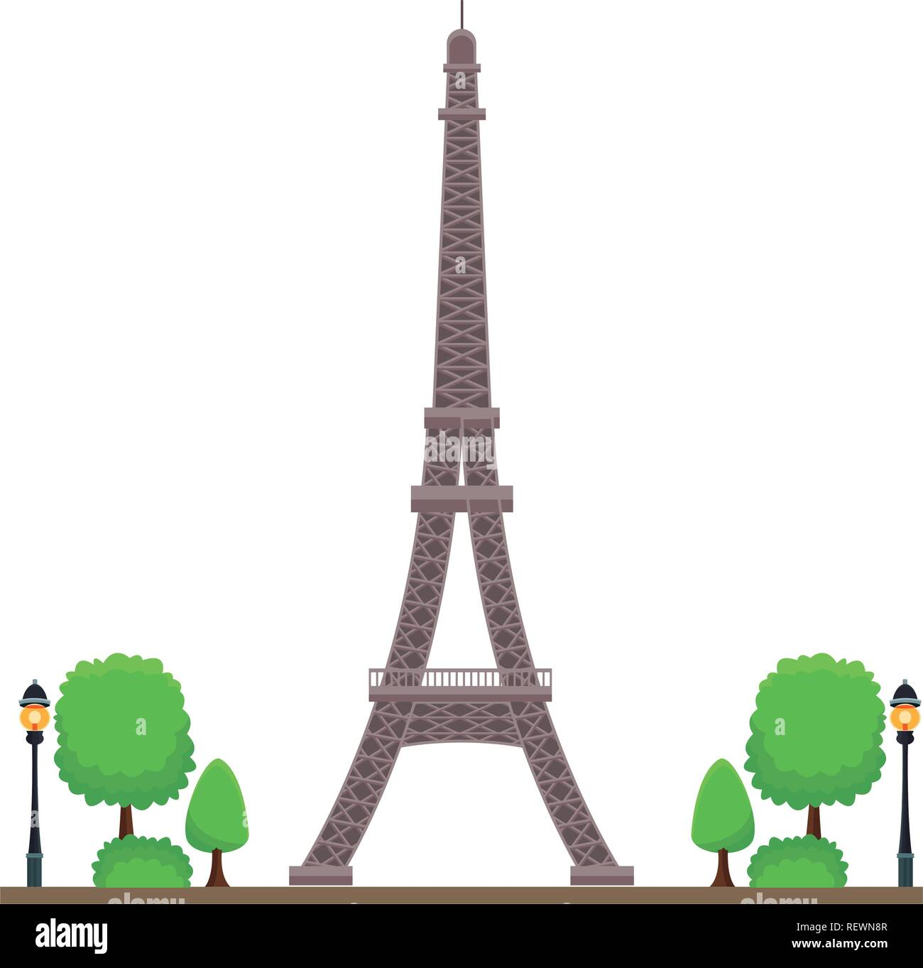 eiffel tower icon - Stock Vector