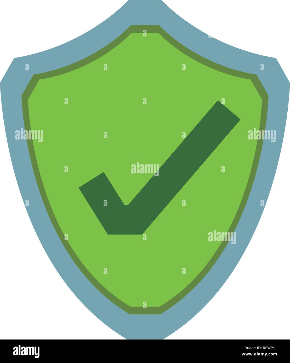 computer protection icon Stock Vector