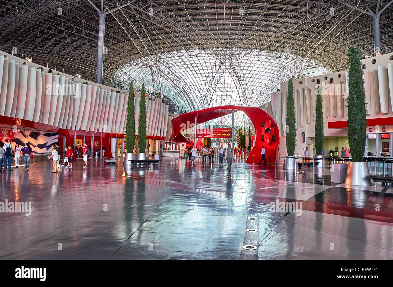 Inside Ferrari World At Yas Island In Abu Dhabi In The United Arad Emirates Ferrari World Is The Largest Indoor Amusement Park In The World Stock Photo Alamy