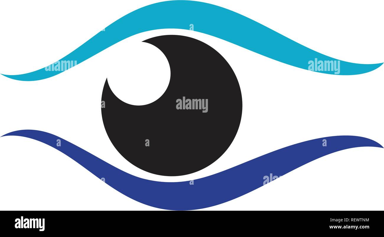 Eye care logo and symbols template vector icons app Stock Vector Art