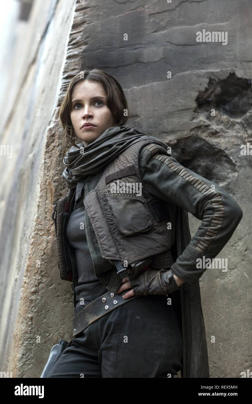 FELICITY JONES ROGUE ONE: A STAR WARS STORY (2016) - Stock Image