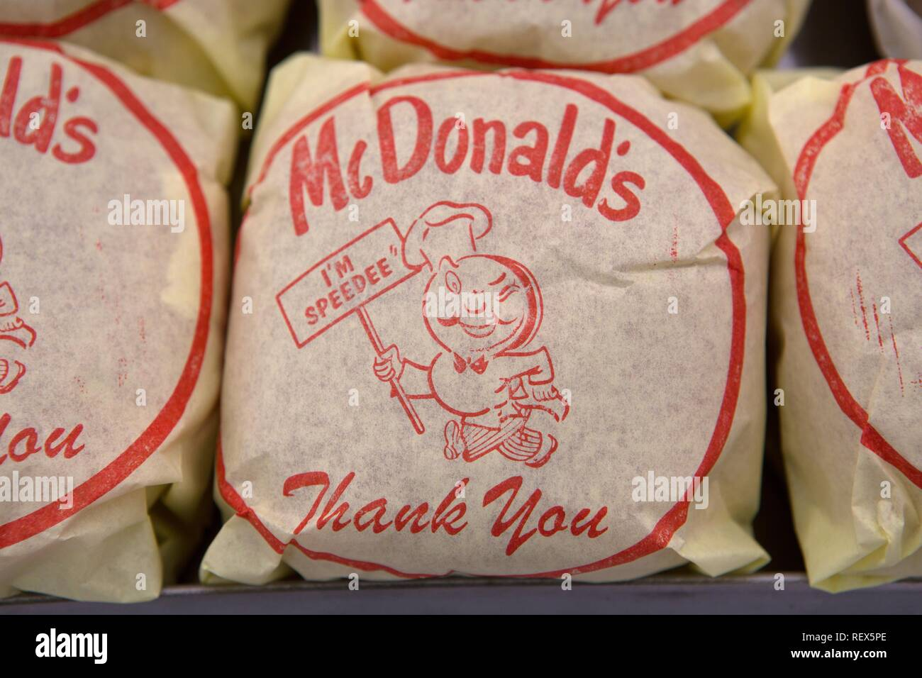 MCDONALD'S BURGERS THE FOUNDER (2016) - Stock Image