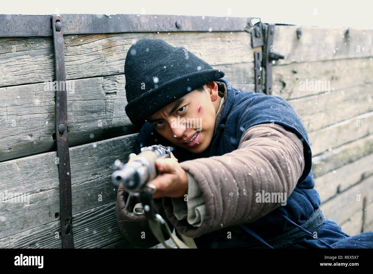 Darren Wang Film: Railroad Tigers (2016)  Character(s): Da Guo  Director: Ding Sheng 17 November 2016  SAS73151 Allstar Picture Library/SPARKLE ROLL MEDIA  **Warning**  This Photograph is for editorial use only and is the copyright of SPARKLE ROLL MEDIA  and/or the Photographer assigned by the Film or Production Company & can only be reproduced by publications in conjunction with the promotion of the above Film. A Mandatory Credit To SPARKLE ROLL MEDIA is required. The Photographer should also be credited when known. No commercial use can be granted without written authority from the Film Comp - Stock Image