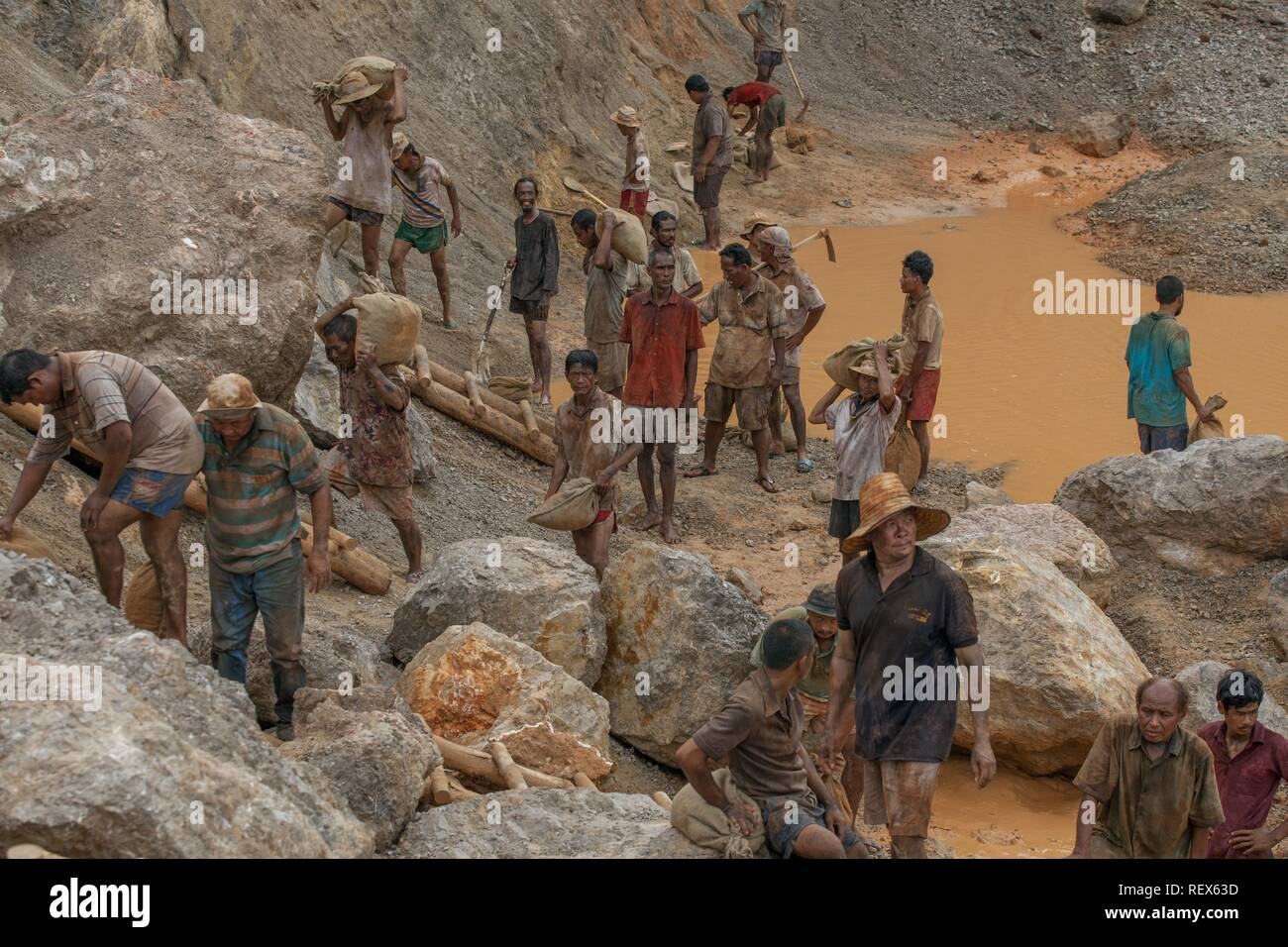 GOLD MINE WORKERS GOLD (2016) - Stock Image