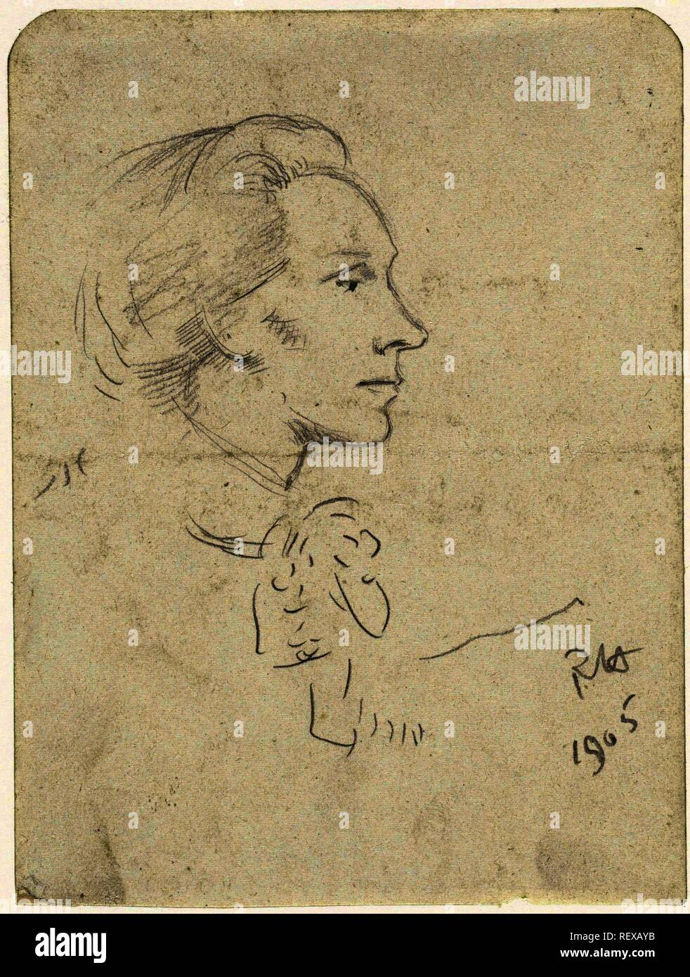 Sketch By Henritte Roland Holst Van Der Schalk From The
