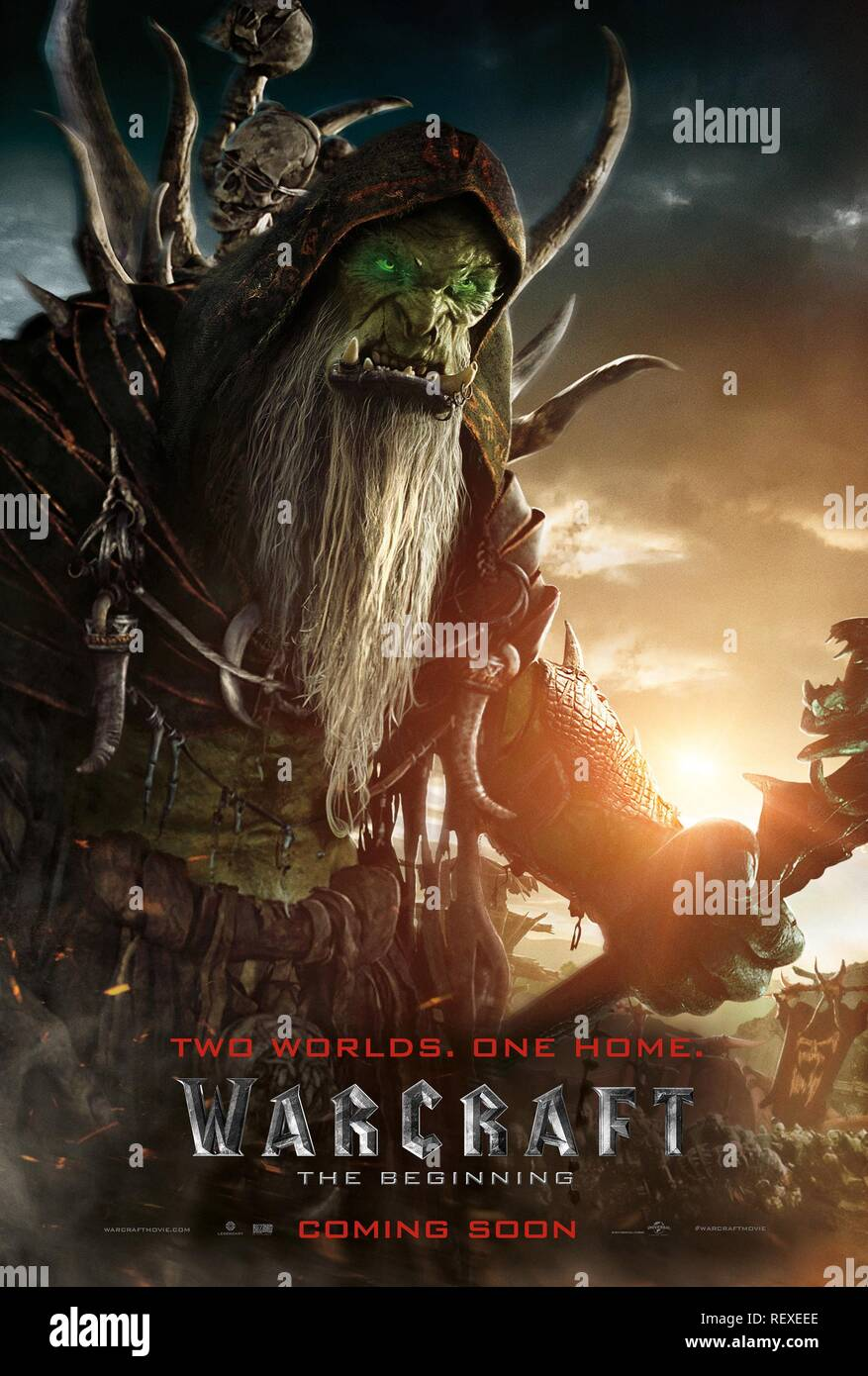 Movie Poster Warcraft 2016 Stock Photo Alamy