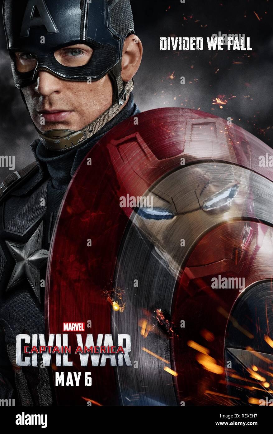 Chris Evans Poster Captain America Civil War 2016 Stock Photo Alamy