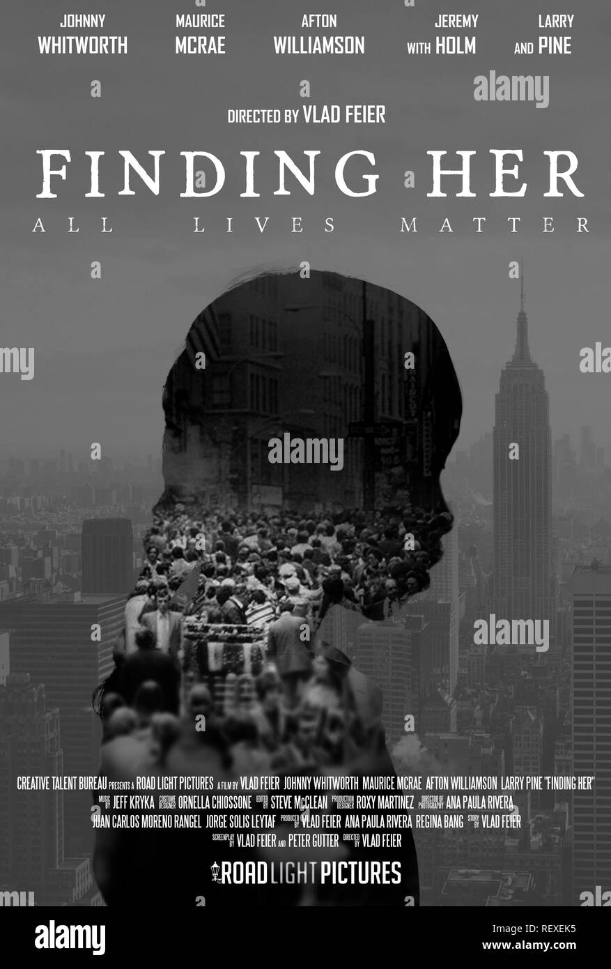 MOVIE POSTER FINDING HER (2016) - Stock Image