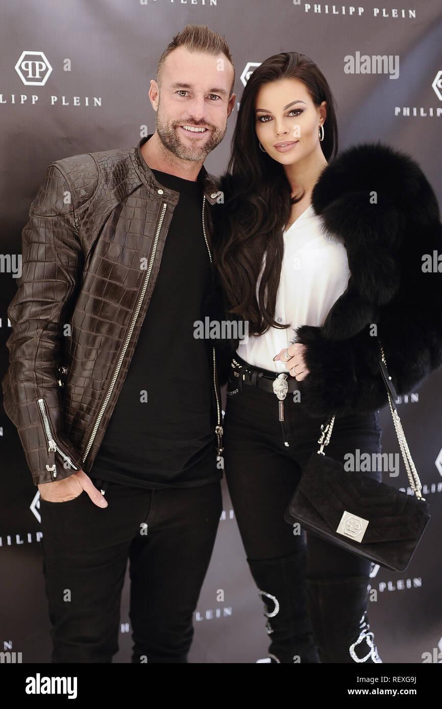 1c28df44375 German designer Philipp Plein opens his boutique in Madrid Featuring: Philipp  Plein, Justyna Gradek Where: Madrid, Spain When: 22 Dec 2018 Credit: Oscar  ...