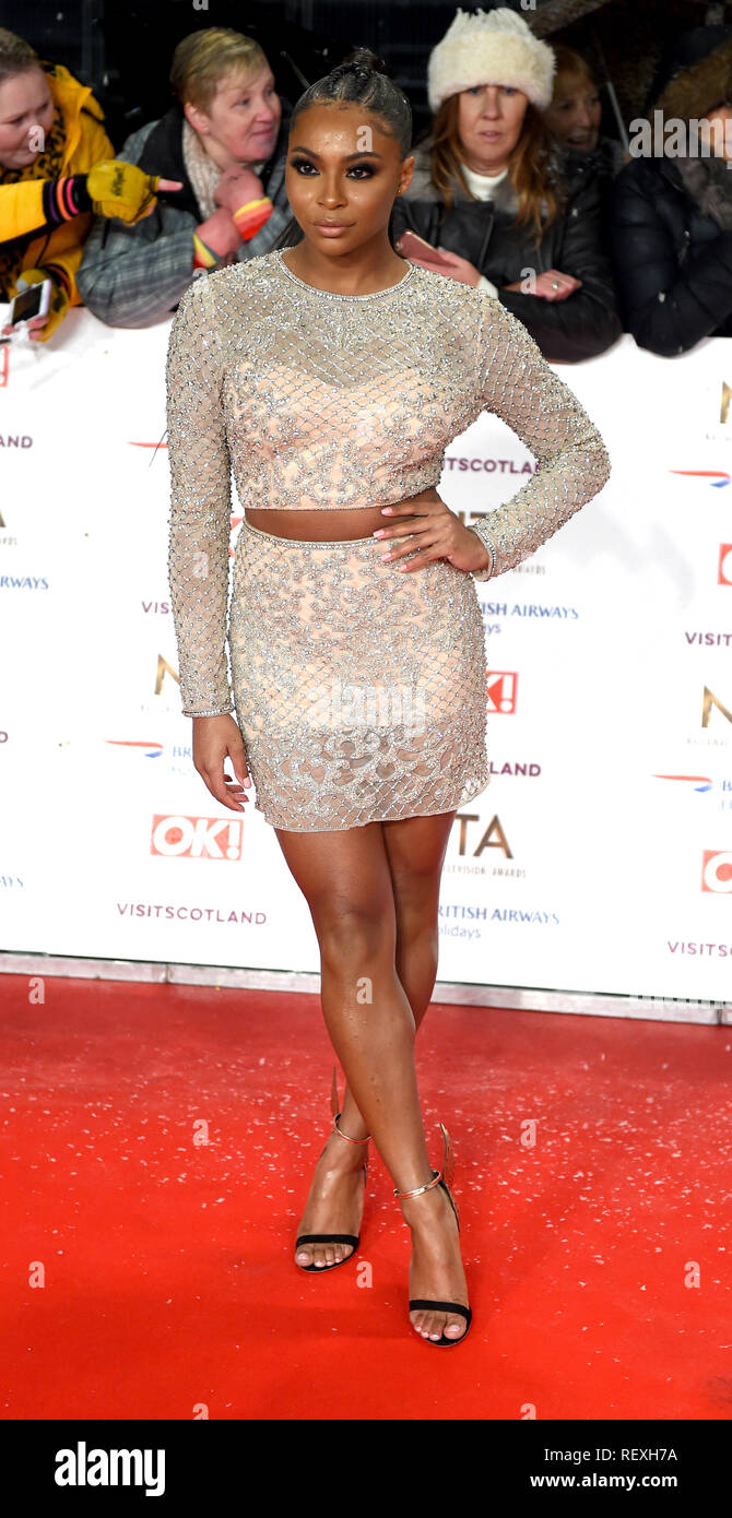 Photo Must Be Credited ©Alpha Press 079965 22/01/2019 Samira Mighty  at the National Television Awards NTA 2019 held at the O2 in London - Stock Image