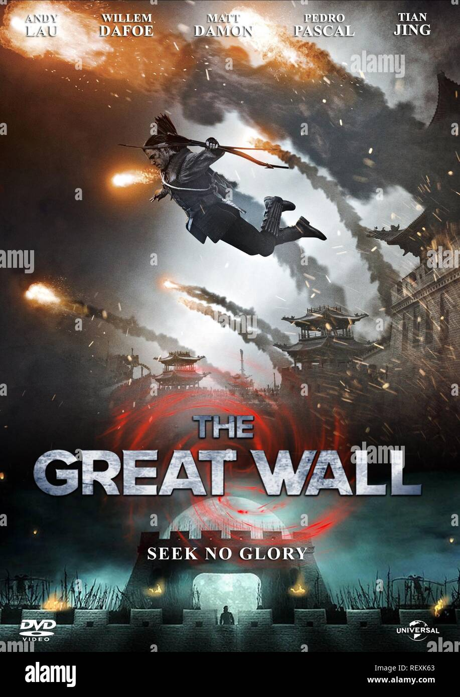 MOVIE POSTER THE GREAT WALL (2016) - Stock Image
