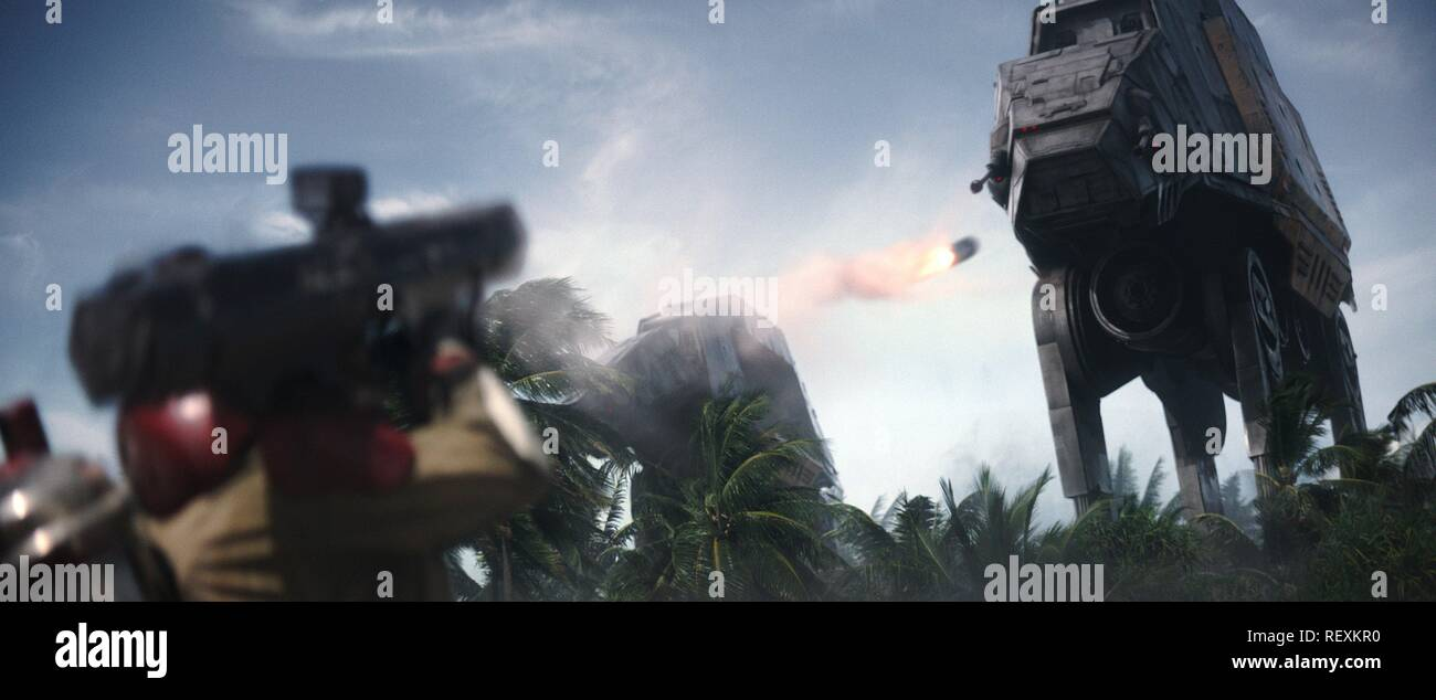 At At Walker Rogue One A Star Wars Story 2016 Stock Photo Alamy