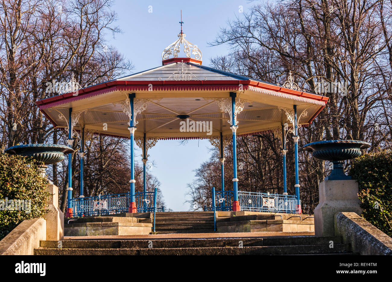 The bandstand at Ropner Park, Stockton on Tees, England, UK Stock Photo