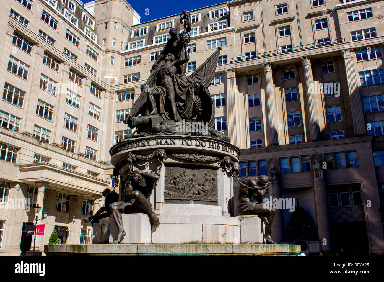 The Nelson Monument, Exchange Flags, Liverpool - Stock Image