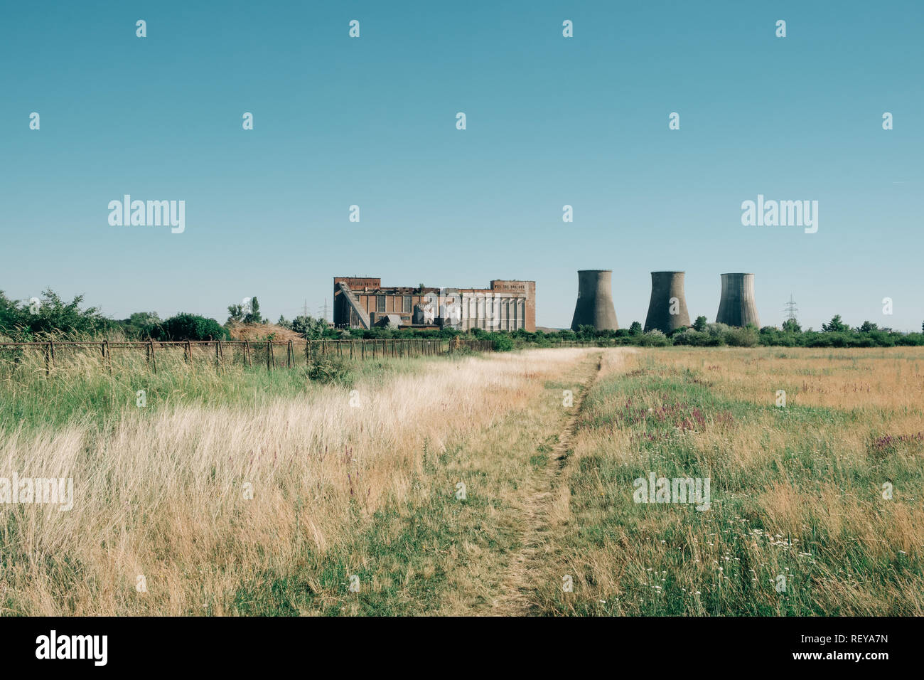 Old factory and big chimneys - Stock Image