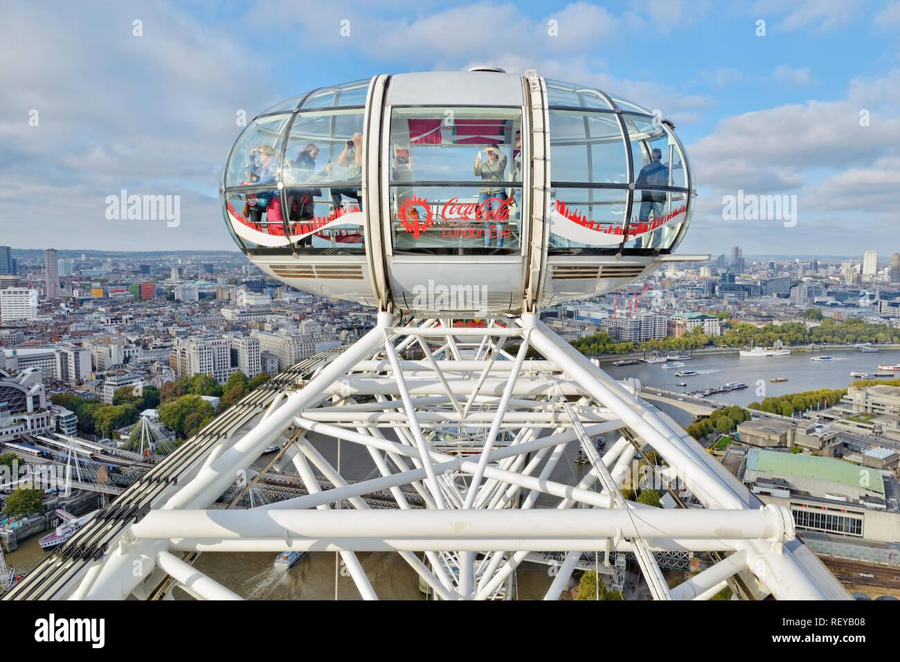 London Eye Capsule, London, England, United Kingdom - Stock Image